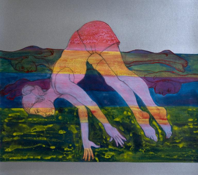 Exotic Movements 30.potlood en acryl  35x45 cm